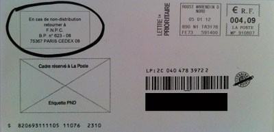 enveloppe lettre 48si fnpc bndc